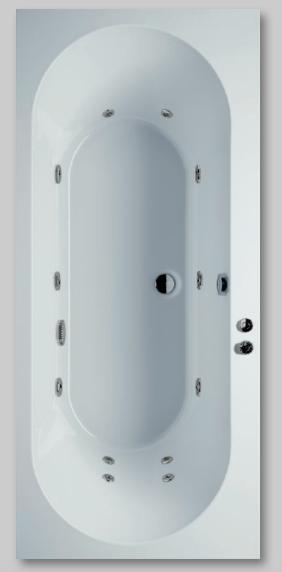 Low budget whirlpool Naxos 180x80 cm