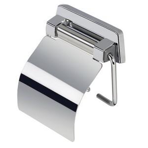 Geesa 915144 Standard WC rol houder met deksel chroom