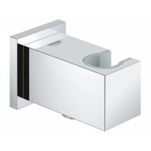 Grohe-Euphoria-Cube-Wandanschlussbogen-26370000-chrom,-Brausehalter,-eigensicher-gegen-Rueckfliessen